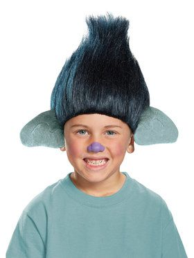 Trolls - Branch True Colors Child Wig One-Size