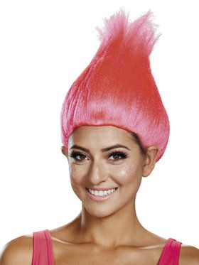 Trolls Hot Pink Adult Wig