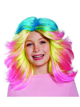 Trolls- Lady Glitter Sparkles Child Wig One-Size