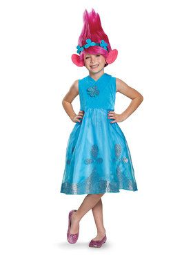 Trolls - Poppy Deluxe Child Costume with Wig