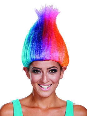 Trolls - Rainbow Colored Adult Troll Wig One-Size