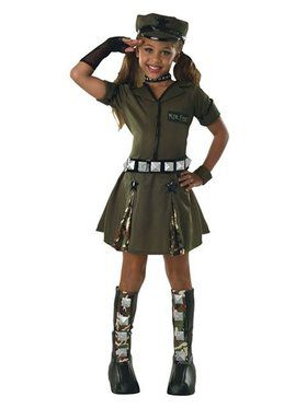 Major Flirt Girl's Costume