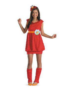 Girls Sesame Street Elmo Costume