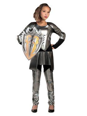 Tween Warrior Snow Child Costume