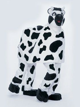 Adult Two Person Cow Mascot Costume