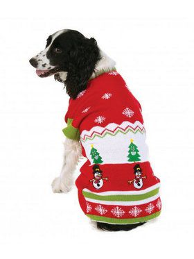 Ugly Christmas Sweater with Pattern Pet Costume