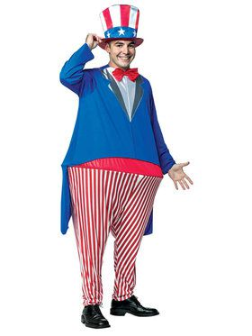 Uncle Sam Adult Hoopster Costume Standard