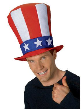 Uncle Sam Adult Stovepipe Hat