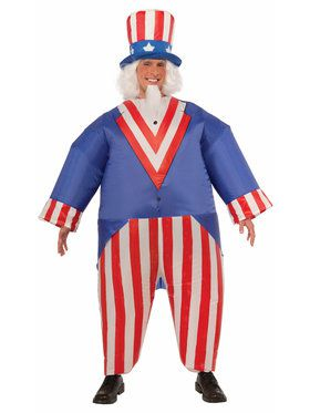Uncle Sam Inflatable One-Size Adult Costume