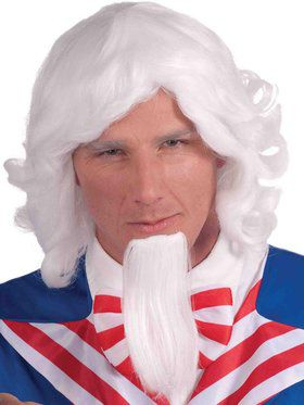 Uncle Sam Wig And Beard Set