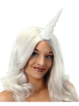 White Unicorn Horn Costume Accessory