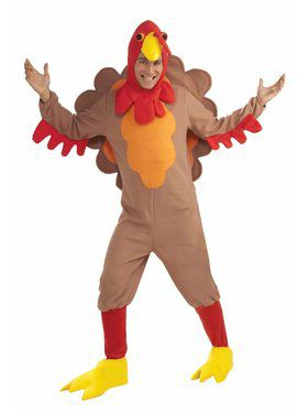 Unisex Adult Fleece Turkey Costume