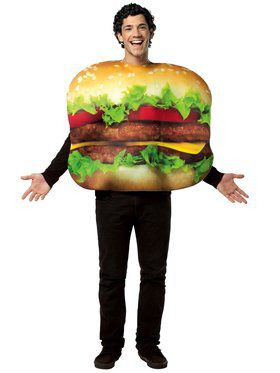 Unisex Flat Cheeseburger Adult Costume
