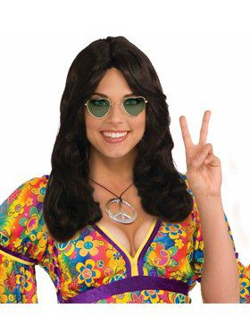 Unisex Hippie Brown Adult Wig