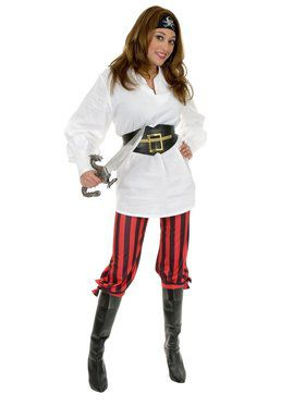 Unisex Pirate Gauze Shirt - White