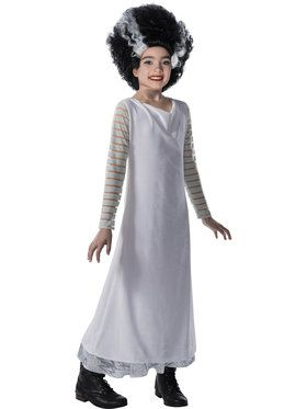 Universal Monsters: Bride of Frankenstein Costume for Girls