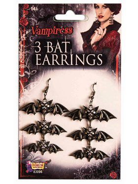 Vampire 3 Bat Earrings