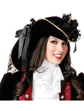Velvet Pirate Costume Hat Accessory