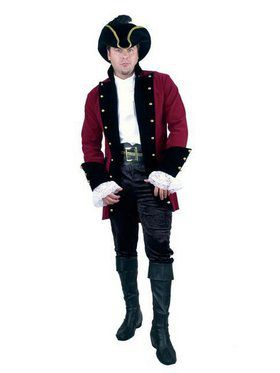Velvet Pirate Prince Jacket - Plus - Red