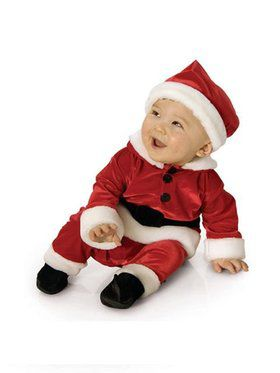 Velvet Santa Jumpsuit Newborn/infant