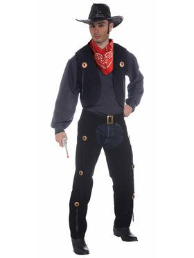Vest and Chaps Set Costume - Adult Standard Standard