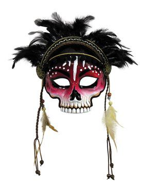 Voodoo 2018 Halloween Masks with Feathers