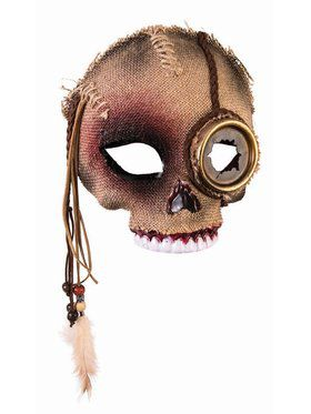 Voodoo Skull Mask w/ Steampunk Eye