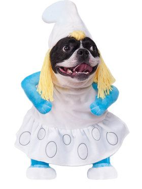Smurfette Walking Pet Costume