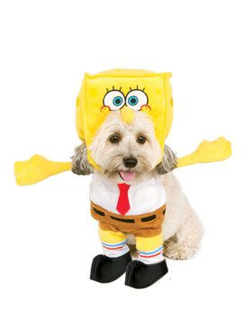 Walking SpongeBob SquarePants Pet Costume