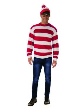 Deluxe Adult Where's Waldo Costume