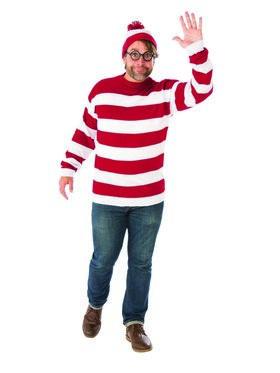 Adult Plus Size Where's Waldo Costume