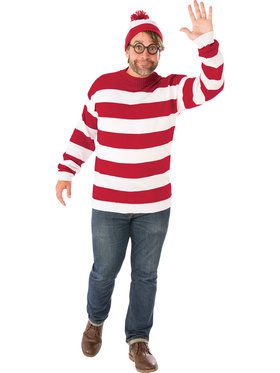 Plus Size Adult Where's Waldo Costume
