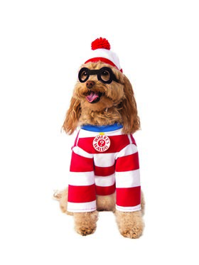 Where's Waldo Woof Costume for Dogs