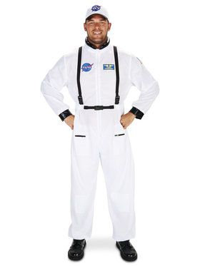White Astronaut Adult Costume