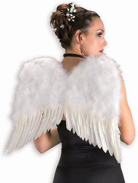 White Economy Feather Wings 22 X 21