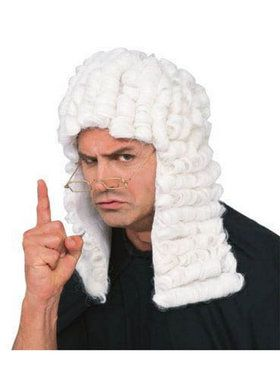 White Judge Wig