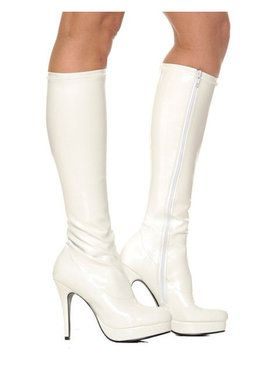 White Knee-high Boot Adult