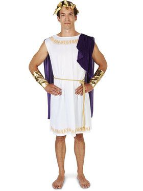 White Toga (Short) Man Adult Costume