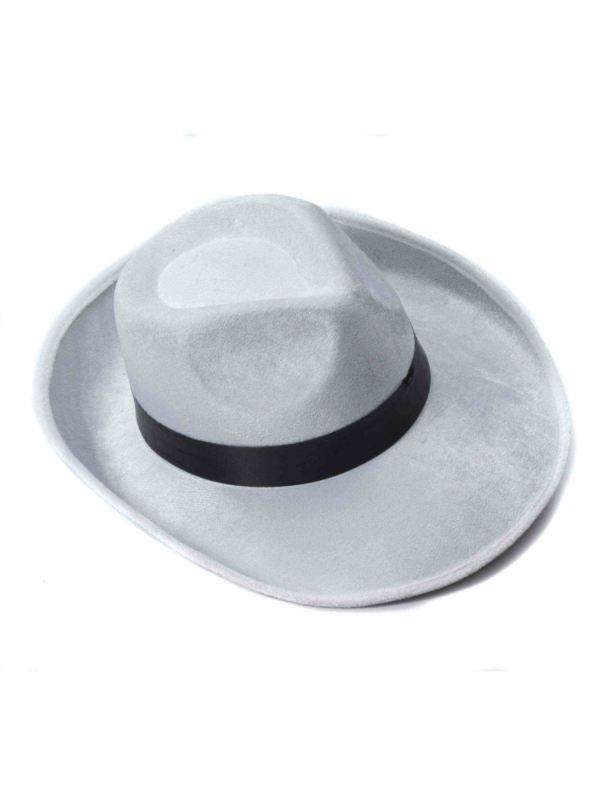 0af38f8dccf White Velvet Fedora with Black Band for Adults - Adult 2018 Halloween  Costumes | BuyCostumes.com