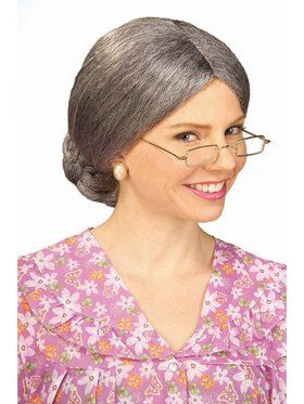 Wig - Old Lady With Bun