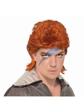 Wig - Orange Rock Star