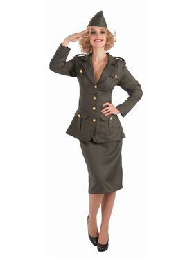 Wii Army Gal Adult Costume