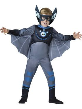 Wild Kratts Quality Blue Bat Costume For Boys X-Small (4)