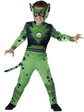 Wild Kratts Quality Green Boys Cheetah Costume