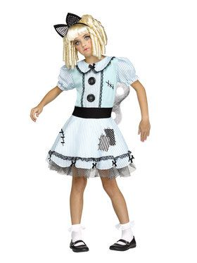 Wind-Up Doll Girl's Costume