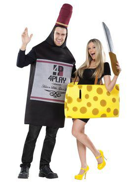 Couples Wine & Cheese Costume