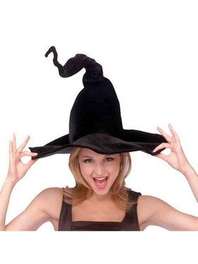 Wired Witch Costume Hat for Adults