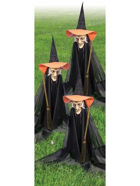 Witchy Group Lawn Ornaments Decoration Set