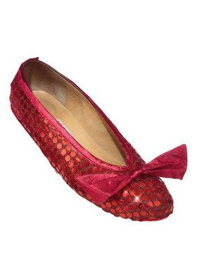 Adult Wizard Of Oz Red Sequin Shoe Cover