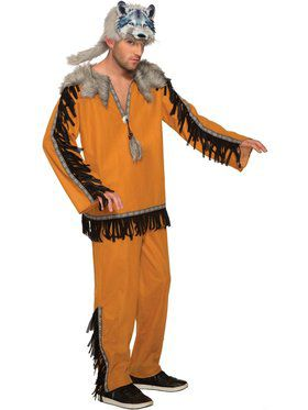 Mens Spirit Wolf Costume